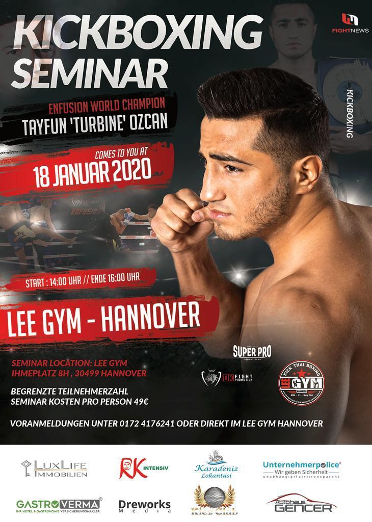 Tayfun Oscan Seminar - K1 Seminar mit Tayfun Oscan am 18. Januar im LEE GYM Hannover