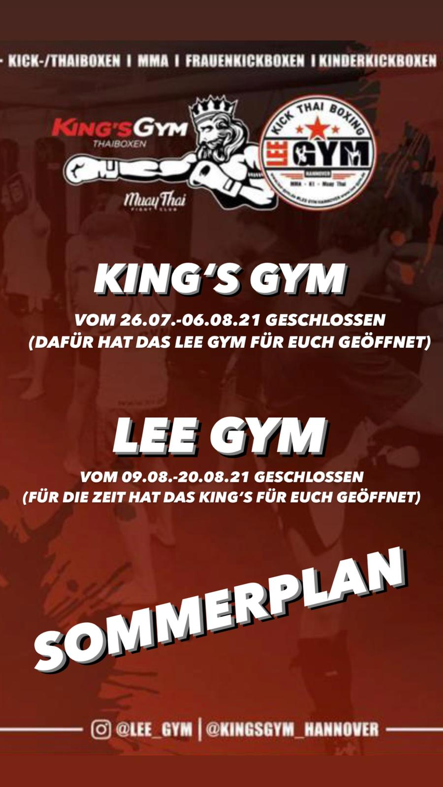 sommerpause lee gym kings gym 2021 1 - Lee-Gym