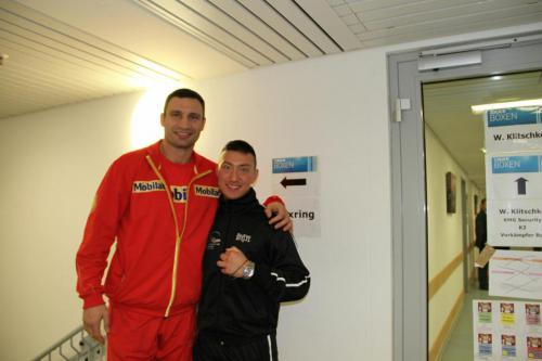 Vitali Klitschko mit Lee Gym